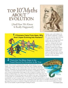 Since I am such a nice guy, I have decided to share a PDF straight out of the Skeptics Society with you. Below is their great effort to correct many misconceptions about evolution. For further elab…