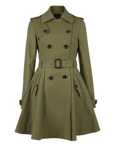 Ted Baker raincoat in olive green. Love the style and colour.