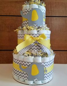 15 Amazing Yellow and Grey Elephant Chevron Baby Shower Ideas – Partymazing