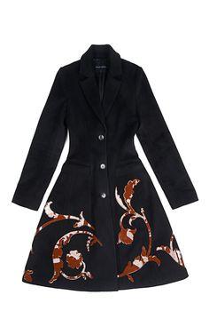 Maria Wool Felt Coat by Jonathan Saunders - Moda Operandi