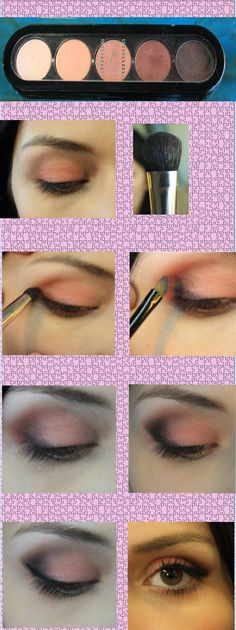 Tutorial maquillaje de ojos naturales para eventos especiales.  Sombras: Atelier maquillaje   Brochas: Difuminadora Atelier #09                Delinear de ojo Body Brown                 Depositadora de color Atelier #10