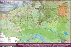 Bacia do Rio Negro | Resultado de um trabalho realizado pela Rede Rio Negro durante o ano de 2014, o Mapa Bacia do Rio Negro: uma visão socioambiental já está disponível em português e espanhol em formato impresso e digital para download gratuito.