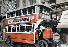 London Bus, autochrome, 1928