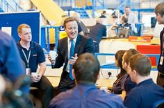 ADS Advance - David Cameron praises BAE Systems' apprentices