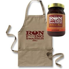 Parks and Recreation Ron F***ing Swanson BBQ Sauce and Apron