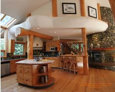 Round log post and beam home I designed that is current for sale in British Columbia.  For more photos or this or any other or my homes, please check out my website, www.designma.com, my Design Page, www.facebook.com/loghomedesign  #loghomes #loghome