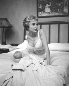 Janet Leigh, White Lingerie, White sheets, Classic, Style Icon