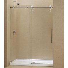 The ENIGMA-Z sliding shower door and coordinating SlimLine shower base combine to create a convenient kit that completely transforms a shower space. Achieve the look and feel of custom glass at an exceptional value with this efficient DreamLine shower kit