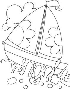 Printable Boat Coloring Pages - Free Coloring Sheets Free Coloring Sheets, Coloring Pages To Print, Colouring Pages, Printable Coloring Pages, Adult Coloring Pages, Coloring Pages For Kids, Coloring Books, Kids Watercolor, Coloring Pages Inspirational