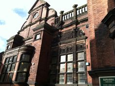 the library in leek Music Tours, Uk Music, Wales, Louvre, England, Architecture, Street, Building, Pictures