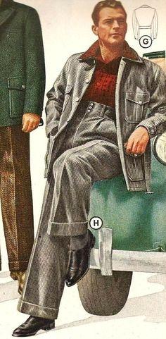 men's fashion catalogue, high rise suit