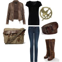 Katniss fashion... AKA what I'm wearing to the movie because I have all of these things. :)