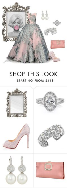 """""""Untitled #1192"""" by julia0331 ❤ liked on Polyvore featuring Mark Broumand, Christian Louboutin, Effy Jewelry, Belpearl and Roger Vivier"""