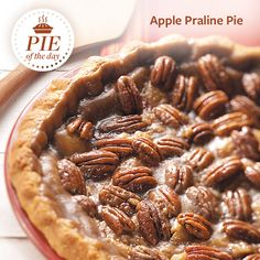Apple Praline Pie Recipe is shared by Noelle Myers, Grand Forks, North Dakota