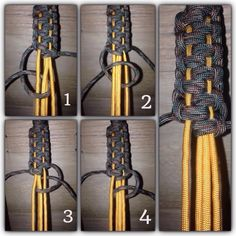 Pinned from Paracord a well-illustrated source on knots, banding, etc. Paracord Bracelet Instructions, Paracord Tutorial, Macrame Tutorial, Diy Tutorial, Paracord Braids, 550 Paracord, Paracord Bracelets, Male Bracelets, Survival Bracelets