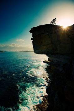 Sunset Ride - Sydney Australia  looks like North Head - opening of Sydney Harbour
