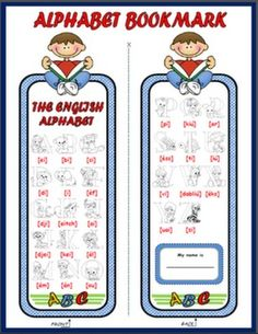 #THE ALPHABET BOOKMARK (BOYS)