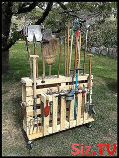 Are you a person that has a messing garage that is not arranged. Here are 42 gar… Are you a person that has a messing garage that is not arranged. Here are 42 garage storage ideas that will certainly assist you arrange your garage like a champ. Garden Tool Storage, Garage Storage, Bag Storage, Garden Tools, Storage Ideas, Garden Ideas, Wood Pallet Planters, Wood Pallets, Decorating Blogs