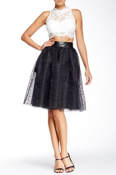It's time to party in this pretty black or white mesh patterned skirt with satin lining. Vegan leather waist band that has stretch at the back. S = US stretchy waistband; M = US stretchy waistband; L = US stretchy waistband; XL = US 10 stretchy waistband. Lace Skirt, Midi Skirt, Faux Leather Skirt, Pretty Black, High Waisted Skirt, Tulle, My Style, Skirts, Women