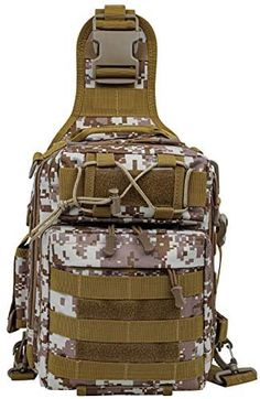 LUXHMOX Fishing-Backpack for Outdoor Gear Storage Tackle-Bag 5.25x12x9 Waterproof Sling Bag