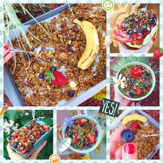 For summer, there's no better gluten free, vegan granola than one stuffed with berries, coconut and hidden veggies!