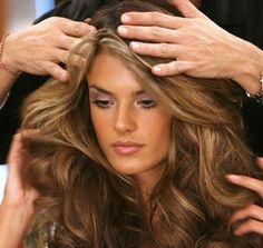 Alessandro Ambrosio. Fav Victoria Secret model. I want her hair....