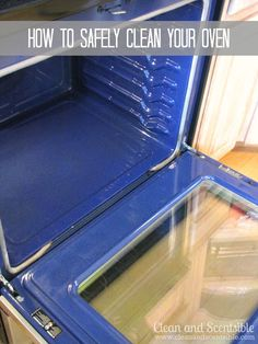 Clean & Scentsible: How to Clean your Oven {Safely}