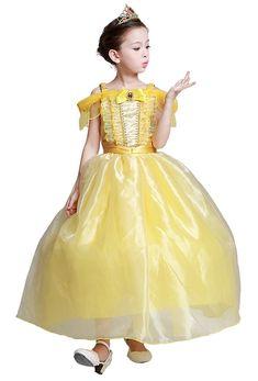 4cb994b1aa678 ベル ドレス キッズ 子供 ロング 衣装 コスプレ 女の子 スカート3層構造  RakutenIchiba  楽天