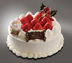 The traditional Japanese Christmas food is the Christmas cake, usually a sponge cake topped off with strawberries and whipped cream.