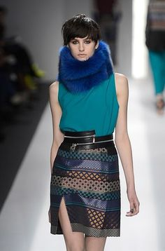 Great Gatsby fashion trend - while it's too hot for summer, furs were big - a more modern take - Fake Furs in bright bold hues Repin:New York Fashion Week: 10 Big Trends For Fall 2013 | StyleCaster - colored fake fur...ICB By Prabal Gurung