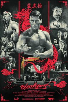 Kogaionon — Bloodsport by Vlad Rodriguez / Behance /. Action Movie Poster, 80s Movie Posters, Classic Movie Posters, 80s Movies, Cinema Posters, Movie Poster Art, Classic Movies, Action Movies, Great Movies