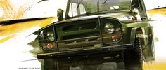 UAZ 469, car art, auto painting