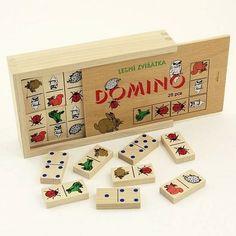 Stolové hry | Domino | Domino Lesné zvieratká II. - obojstranné | www.mileobchod.sk