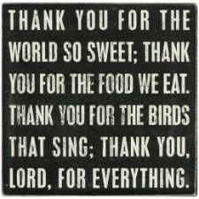 Thank You Lord - Plaque