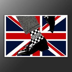 SKA-TWO-TONE-UNION-JACK-POP-A1-ART-PRINT-ON-340GSM-HEAVYWEIGHT-COTTON-CANVAS