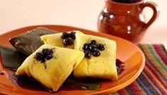 Tamales Canarios con Blueberries
