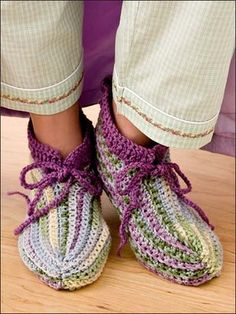 pantufas dormir crochet