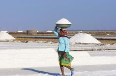 An Indian woman works collecting salt in the salt pans near Dhrangadhra, Gujarat. (Malcolm Chapman/Getty Images) From: 39 Stunning Images Celebrating Women Around The World