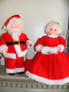 Old Mr. & Mrs. Santa Claus Made from Ivory Soap by GinkgoWay, $12.50