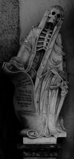 Grim Reaper statue from the crypt in Salzburg Cathedral, Austria