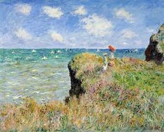 Claude Monet - Walk on the Cliff at Pourville (1882)