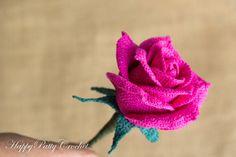 Crochet Rose Pattern Crochet Pattern for by HappyPattyCrochet