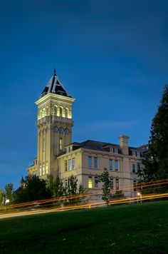 A night image of Old Main taken by Aggie photographer. Old Main, affectionately remembered by succeeding generations of students and characterized by the tower bell, has been a distinctive aspect of Utah State University for all who have walked its halls as students, faculty, or guests. #aggielife, Cache Valley, USU