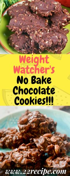 I just love desserts that don't require you to heat up the oven. This is as easy as stirring all the ingredients in a pan and dropping the batter onto parchment paper and just waiting for them to set… Ingredients. Plats Weight Watchers, Weight Watchers Tips, Weight Watchers Desserts, Weight Watchers Brownies, Skinny Recipes, Ww Recipes, Cooking Recipes, Recipies, Ww Desserts