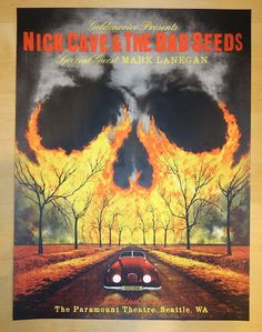 Nick Cave & the Bad Seeds w/ special guest Mark Lanegan - silkscreen concert poster (click image for more detail) Artist: Jon Smith Venue: The Paramount Theatre Location: Seattle, WA Concert Date: 7/0