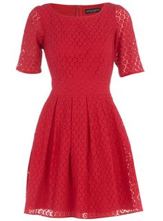 Red Lace Babydoll Dress - who else is loving all the Erdem knockoffs?