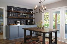 hgtv fixer upper images | As seen on HGTV's Fixer Upper, coffee bar by dining table by sharalee ...