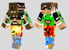 All of the popular minecraft youtubers in a skin.....is it okay that I'm crying right now?