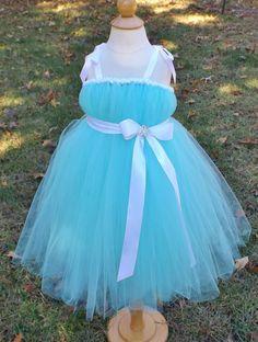 Tiffany blue tutu dress, aqua tutu dress, tiffany blue flowergirl dress, aqua flower girl dress Tiffany and co. flower girl dress by DesignedByDaph on Etsy https://www.etsy.com/listing/210706695/tiffany-blue-tutu-dress-aqua-tutu-dress