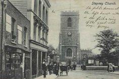 Photos (Historic) - St Dunstan and All Saints Stepney Vintage London, Old London, London Pictures, Old Pictures, East End London, Bethnal Green, London History, London Pubs, Old Churches